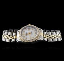 Rolex 14KT Two-Tone Diamond DateJust Ladies Wristwatch
