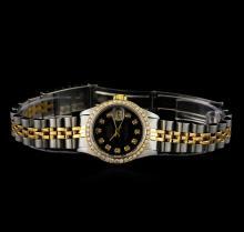 Rolex 18KT Two-Tone Diamond DateJust Ladies Watch