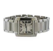 Cartier Stainless Steel Tank Francaise Men's Watch