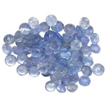 10.33 ctw Round Mixed Tanzanite Parcel