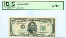1950B PCGS CN 62PPQ $5 Federal Reserve Star Bank Note