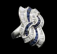 1.33 ctw Sapphire and Diamond Ring - Platinum