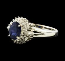 1.15 ctw Sapphire and Diamond Ring - Platinum