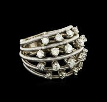 1.02 ctw Diamond Ring - 14KT White Gold