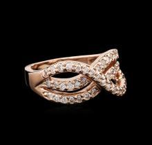 14KT Rose Gold 0.50 ctw Diamond Ring