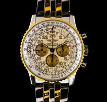 Breitling 18KT Two-Tone Navitimer Cosmonaute Men's Watch