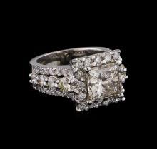 5.91 ctw Diamond Ring - 14KT White Gold