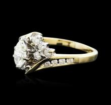 14KT Two-Tone Gold 0.75 ctw Diamond Ring