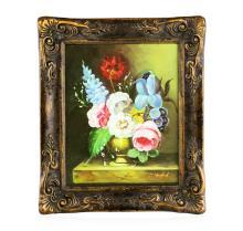 Antique Oil on Canvas Still Life Floral