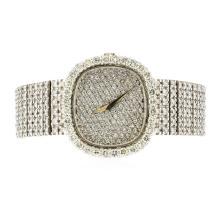 Patek Philippe 18KT White Gold 9.19 ctw Diamond Men's Watch
