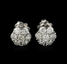 14KT White Gold 1.50 ctw Diamond Earrings