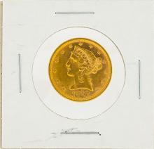 1897 $5 AU Liberty Head Half Eagle Gold Coin