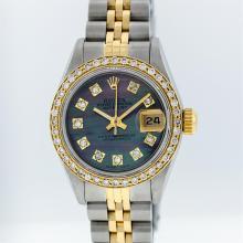Rolex Two-Tone Tahitian MOP VVS Diamond Dial DateJust Ladies Watch