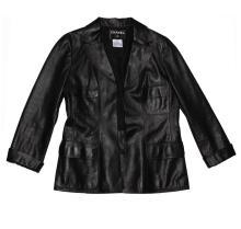 Ladies Chanel Black Leather Jacket