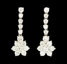 1.78 ctw Diamond Earrings - 14KT White Gold