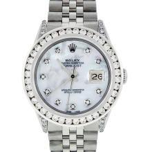 Rolex Stainless Steel 3.00 ctw Diamond DateJust Men's Watch