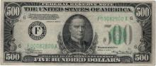1934A $500 Federal Reserve Note