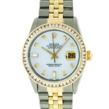 Rolex Two-Tone 2.75 ctw Diamond DateJust Men's Watch