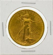 1908-D $20 No Motto AU St. Gaudens Double Eagle Gold Coin