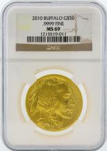 2010 NGC MS69 $50 American Buffalo Gold Coin