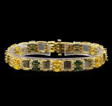 14KT Yellow Gold 12.97 ctw Sapphire and Diamond Bracelet
