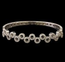 1.55 ctw Diamond Bangle Bracelet - 18KT White Gold