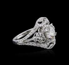 18KT White Gold 2.37 ctw Diamond Ring