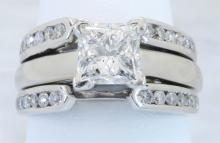 1.39 ctw LEO Certified Diamond Ring - 14KT White Gold
