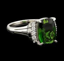 4.29 ctw Tourmaline and Diamond Ring - Platinum