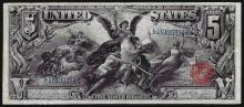 1896 $5 Educational Silver Certificate Note