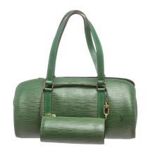 Louis Vuitton Green Epi Leather Soufflot Shoulder Bag