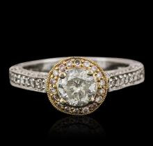 18KT Two-Tone Gold 1.39 ctw Diamond Ring