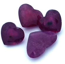 10.8 ctw Heart Mixed Ruby Parcel