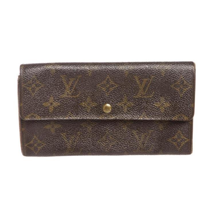 Louis Vuitton Monogram Canvas Leather Long Wallet