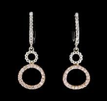 0.50 ctw Diamond Earrings - 14KT Two-Tone Gold