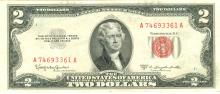 1953-C $2 XF/AV Red Seal Note