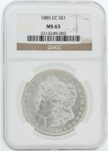 1885-CC NGC MS63 Morgan Silver Dollar