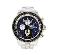 Breitling Stainless Steel 9.00 ctw Diamond Super Avenger Men's Watch