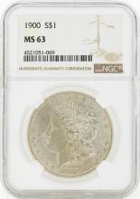 1900 MS63 NGC Morgan Silver Dollar