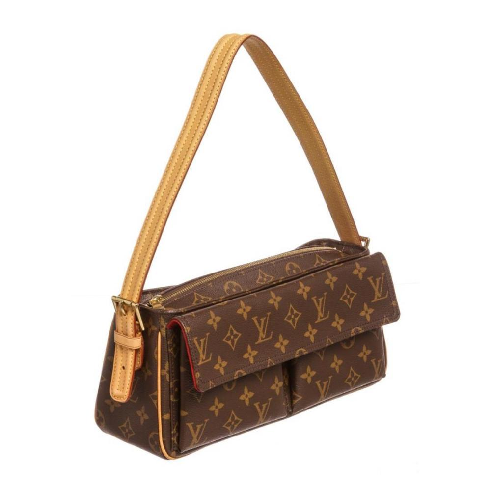 Lot 281  Louis Vuitton Monogram Canvas Leather Viva Cite MM Bag bff7ee7108