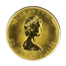 1983 $50 Canada Maple Leaf 1 oz. Gold Coin