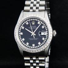 Rolex Stainless Steel VVS Diamond DateJust Men's Watch