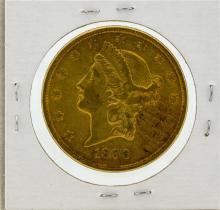 1896-S $20 AU Liberty Head Double Eagle Gold Coin