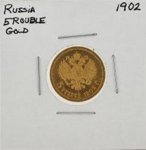 1902 5 Ruble Gold Coin