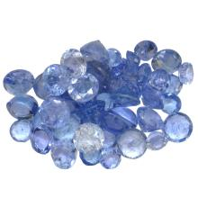 9.27 ctw Round Mixed Tanzanite Parcel