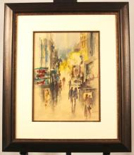 Original Watercolor By Listed Artist Won Hoe