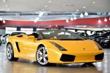 2008 Yellow Lamborghini Gallardo Convertible