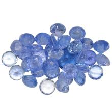 21.35 ctw Round Mixed Tanzanite Parcel