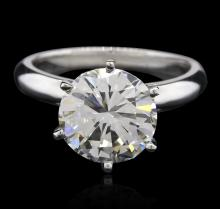 GIA Cert 3.03 ctw VVS-1 Diamond Solitaire Ring - Platinum