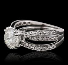 18KT White Gold 3.66 ctw Diamond Ring Wedding Set
